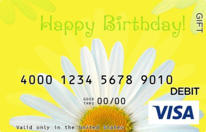 Happy Birthday Visa Gift Card