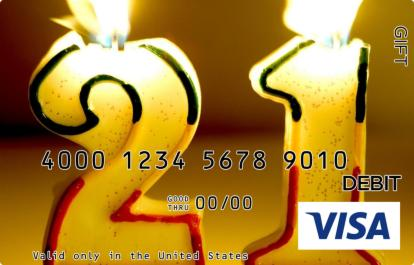 21st Birthday Visa Gift Card