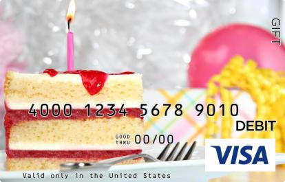 Party Cake Visa Gift Card
