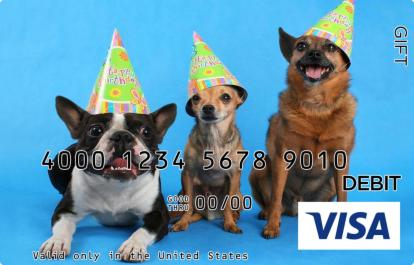 Party Dogs Visa Gift Card