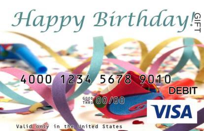 Birthday Confetti Visa Gift Card