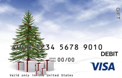 Christmas Presents Visa Gift Card