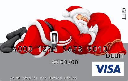 Santa Claus Visa Gift Card