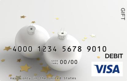 White Ornament Visa Gift Card