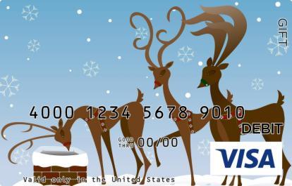 Reindeers Visa Gift Card