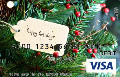 Christmas Tag Visa Gift Card