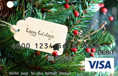 Christmas Tag Visa Gift Card