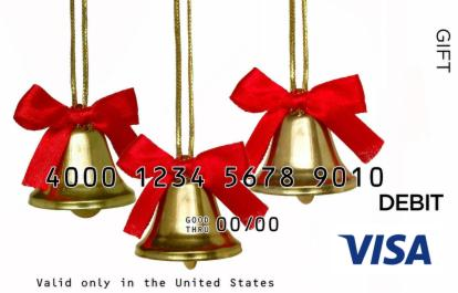 Christmas Bells Visa Gift Card