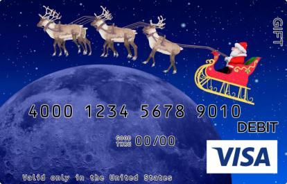 Christmas Globe Visa Gift Card