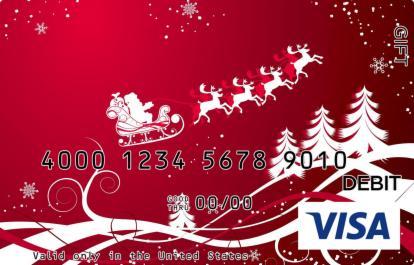 Santa Traveling Visa Gift Card
