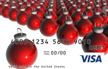 Stand-Alone Ornament Visa Gift Card