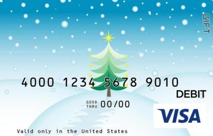 Christmas Tree on Hill Visa Gift Card