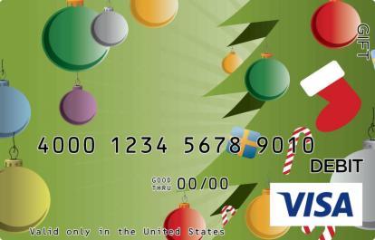 Cartoon Christmas Tree Visa Gift Card