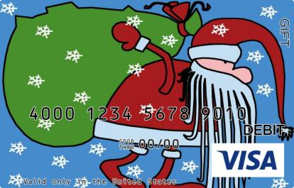 Cartoon Santa Visa Gift Card