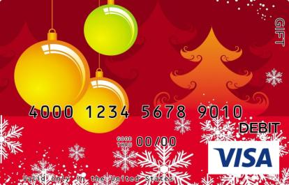 Orange Christmas Visa Gift Card