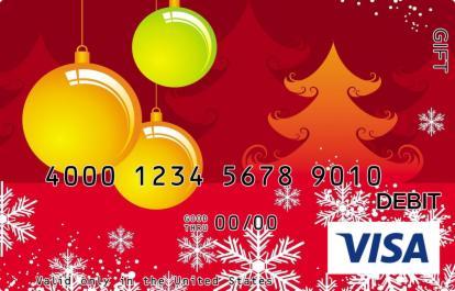 Orange Christmas Visa Gift Card