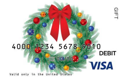 Christmas Wreath Visa Gift Card