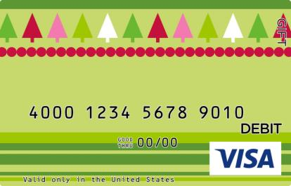 Christmas Patterns Visa Gift Card