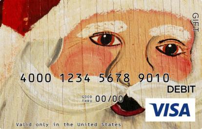 Santa Cut-Out Visa Gift Card