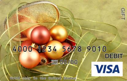Christmas Ribbon Visa Gift Card