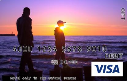 Father and Son Visa Gift Card