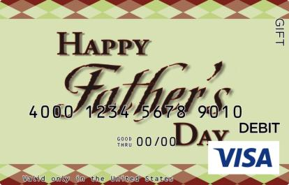 Fathers Day Patterns Visa Gift Card