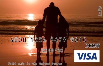 Father and Daughters Visa Gift Card