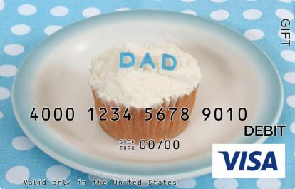 Father's Day Cupcake Visa Gift Card