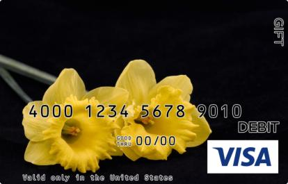 Yellow Petals Visa Gift Card