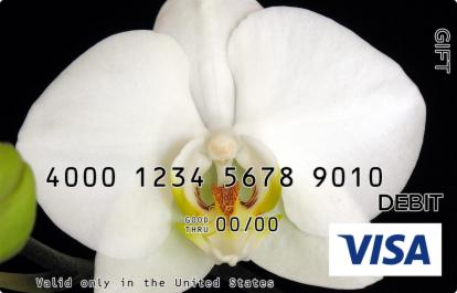 White Orchid Visa Gift Card