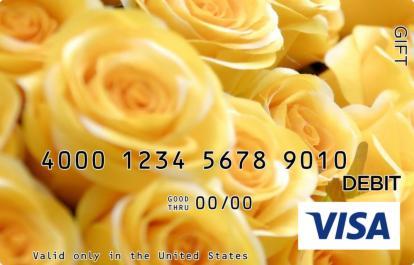 Yellow Roses Visa Gift Card