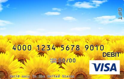 Sunflower Field Visa Gift Card