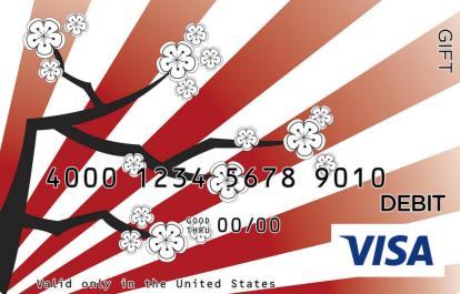 Japanese Flower Visa Gift Card