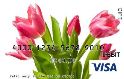 Pink Tulips Visa Gift Card