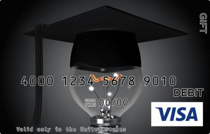 Graduation Bulb Visa Gift Card