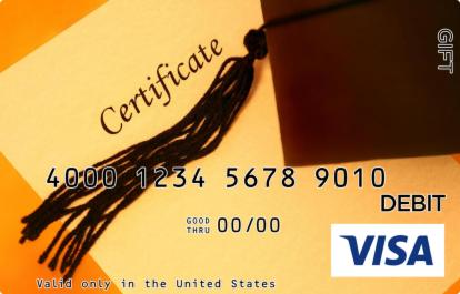 Graduation Certificate Visa Gift Card