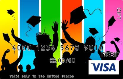 Colorful Hats Off Visa Gift Card