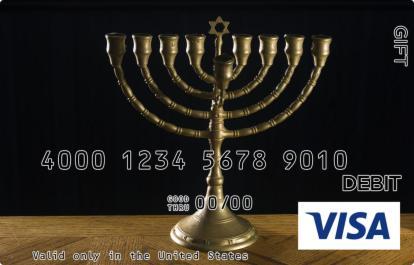 Menorah Visa Gift Card