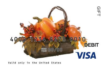 Thanksgiving Visa Gift Card