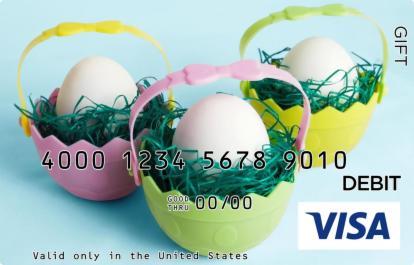 Easter Basket Visa Gift Card