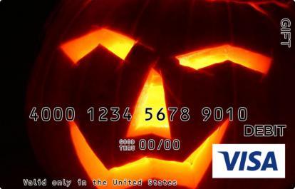 Jack O Lantern Visa Gift Card
