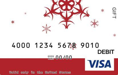 Falling Snowflakes Visa Gift Card