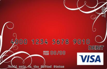 Red Holidays Visa Gift Card