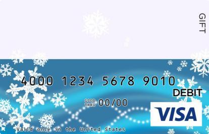 Blue & Pastel Snowflakes Visa Gift Card