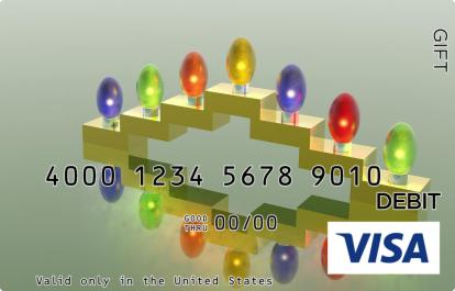 Menorah Bulbs Visa Gift Card