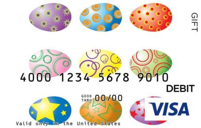 Colorful Easter Visa Gift Card