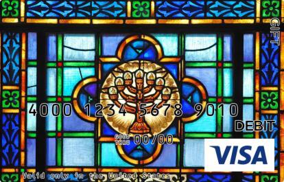 Menorah in Glass Visa Gift Card
