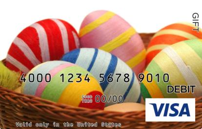 Easter Eggs in Grass Visa Gift Card