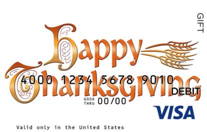 Happy Thanksgiving Visa Gift Card