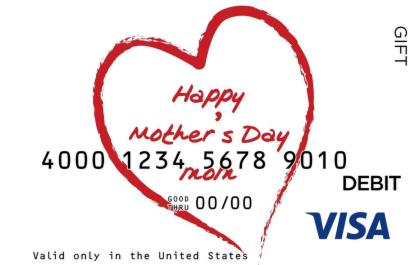 Happy Mothers Day Visa Gift Card